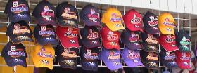 Hats for sale at the Ontario, California open air market