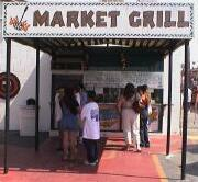 Sanck food grill at Ontario swap meet, California