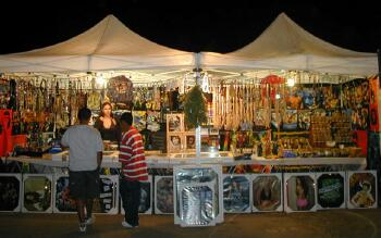 Indio open ari market, night fair, California